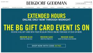 Coupon Bergdorf Goodman