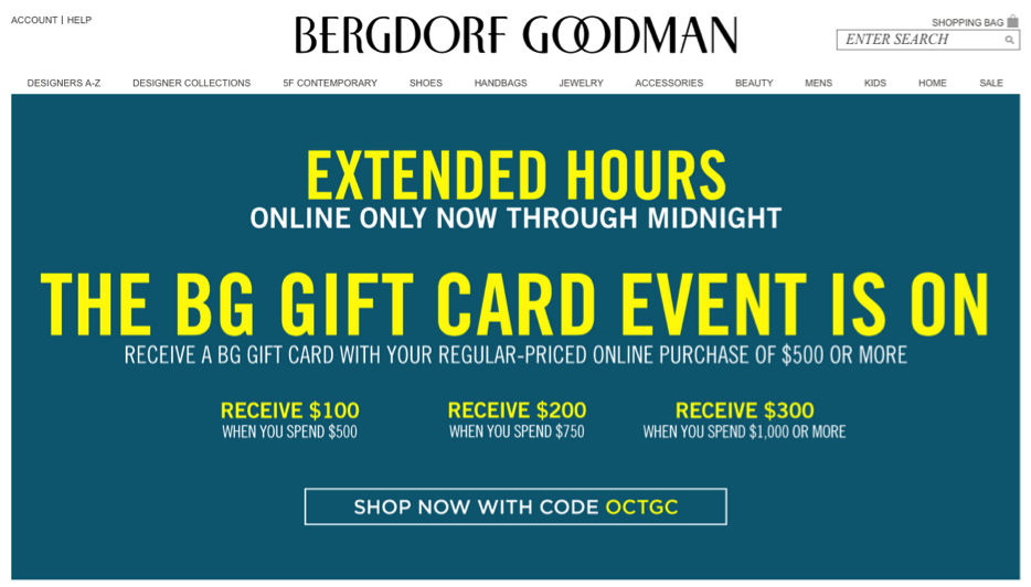 Coupon Bergdorf Goodman