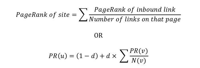 Formula di Google PageRank
