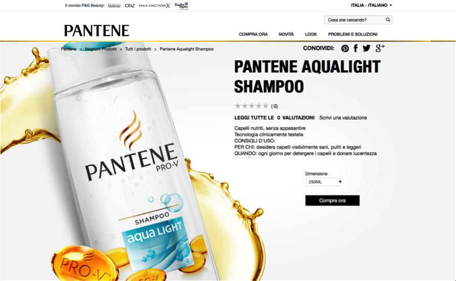 Pagina Prodotto Pantene